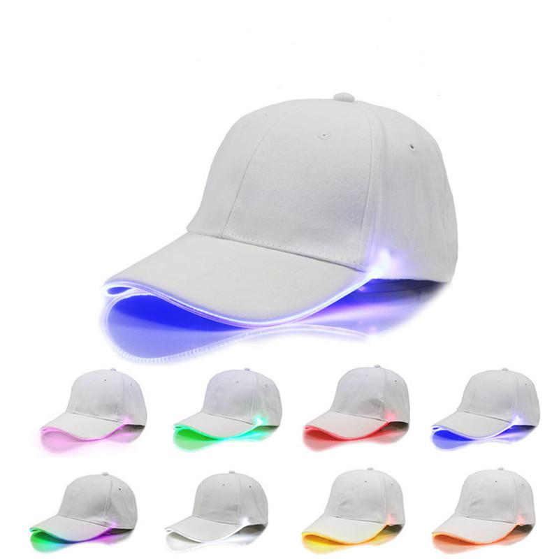 LED Baseball Cap Adjustable Ball Hats Change Mode Night Luminous Flash LED Light Snapbacks Peak Cap Sports Fishing Hats for women men Kids
