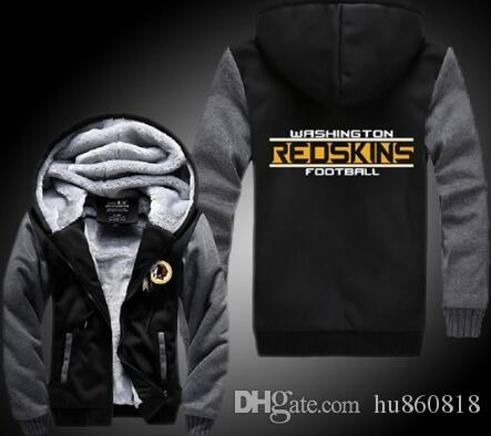 best cheap fa052 bad90 2018 washington redskins Sweatshirt Warm Fleece Thicken Jacket Zipper Coat  Hoodies & Sweatshirts Up-to-date Jacket