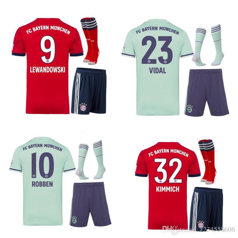 2019 NEW 2018 2019 Bayern Munich JAMES VIDAL RIBERY GOTZE SANCHES LAHM Home  Away Red Jerseys 18 19 LEWANDOWSKI MULLER ROBBEN BOATENG ALABA Goalke From  ... a38cc1d38