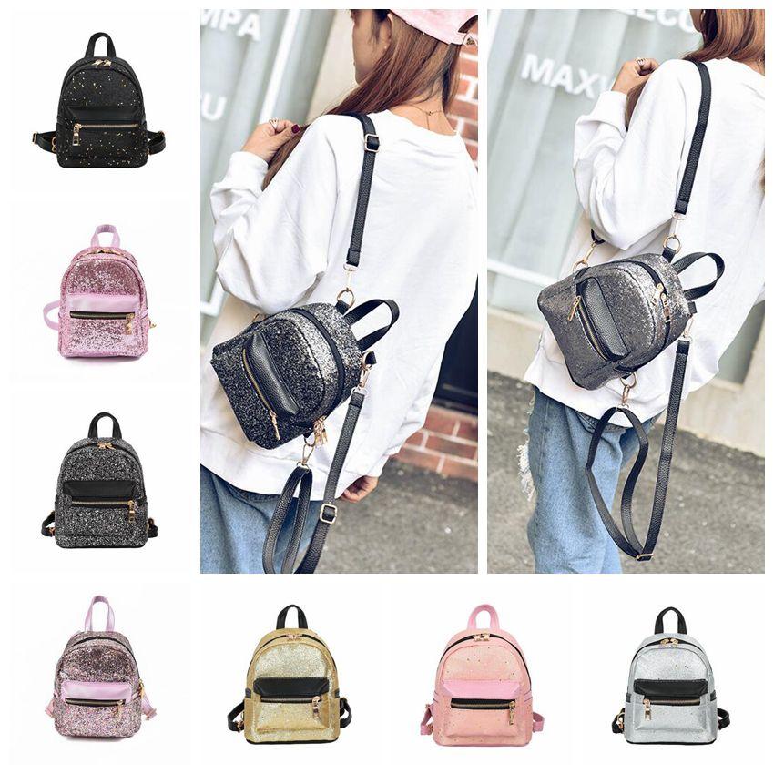 77b1641de4 Women Sequins Mini Backpacks Pu Leather Cute Girls Shoulder Bag Bling Shiny  Kids Backpacks OOA5443 Shop Backpacks Clear Backpack From B2b baby
