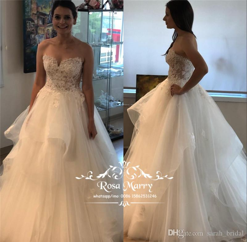 93623cc299a Discount Plus Size Country Boho Beach Wedding Dresses 2018 A Line Corset  Ruffles Skirt Vintage Lace Greek Style Bohemian Italy Wedding Bridal Gowns  Chiffon ...