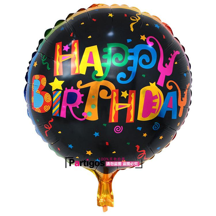 18 Inch Happy Birthday Letter Balloons Helium Foil Balloon Flower Cartoon Printed Celebrate Party Decoration Holiday 2018 Air In A