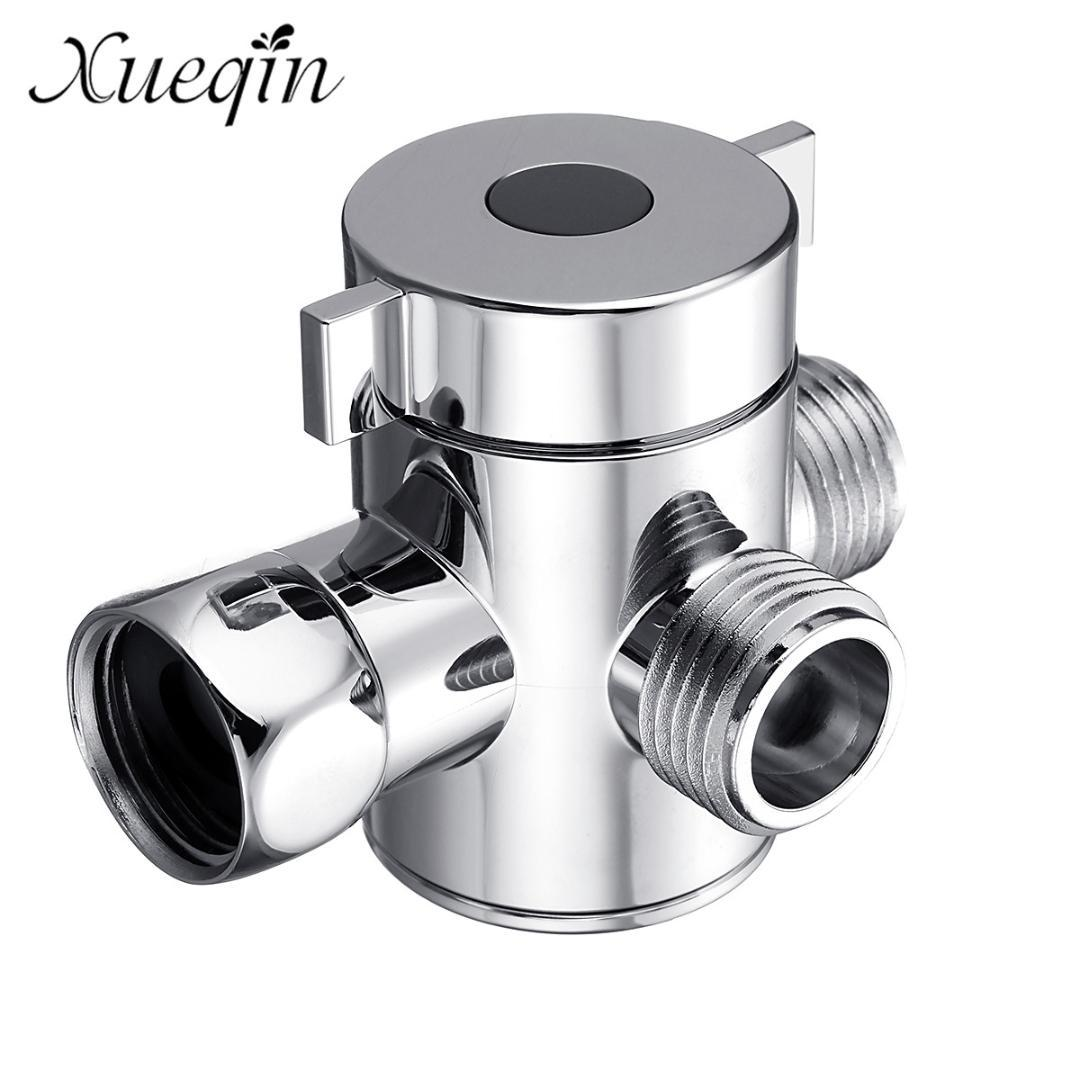 Xueqin Three Head Function Switch Adapter Control Valve 3 Way Tee Connector Shower Head Diverter Valve For Toilet Bidet Shower