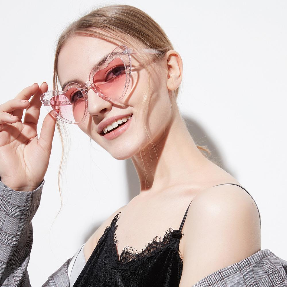 7eda86da9d UVLAIK 2018 Love Heart Sunglasses Women Cute Sexy Retro Cat Eye Sun Glasses  Vintage 90s Glasses Red Flash Pink Eyewear Female Spitfire Sunglasses  Native ...