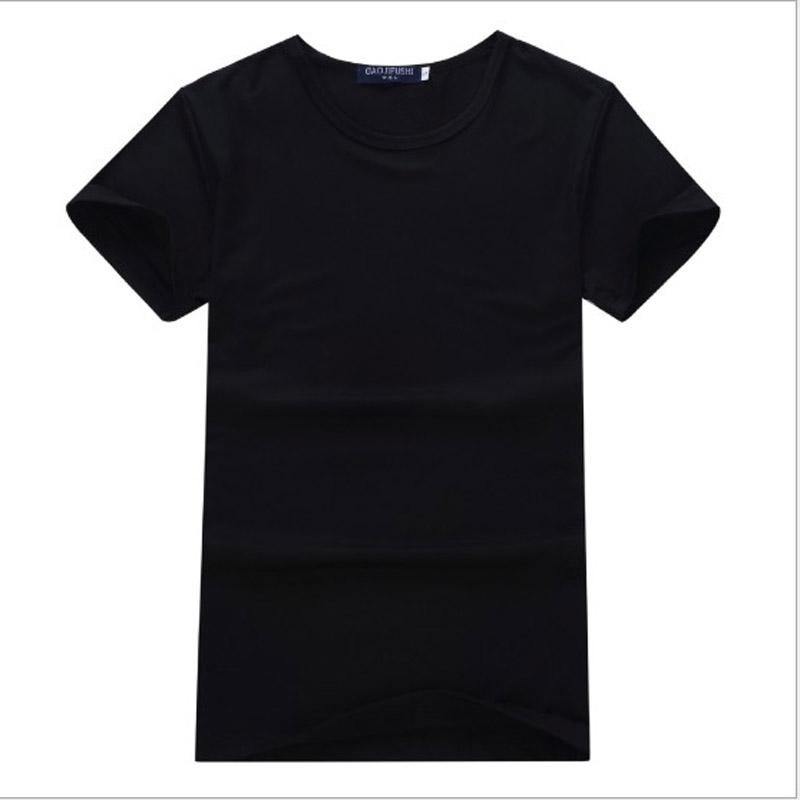 S-3XL Plus Size Summer Modal short sleeve clothes t-shirts Blank men women t shirts solid color
