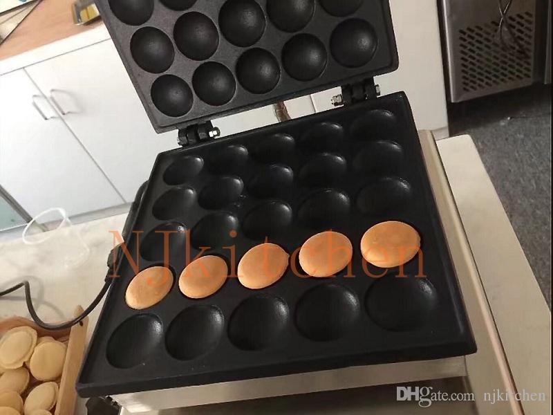 Ücretsiz Kargo Ticari Kullanım 110 v 220 v 25 Dimples poffertjes pişirme plaka Poffertjes ocak küçük puf waffle makinesi