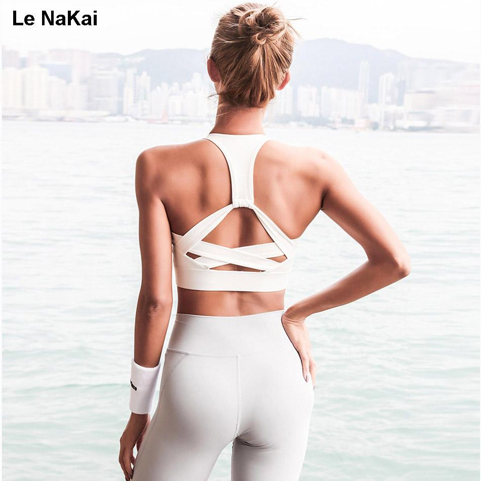 8a021a2b440d0 Le nakai high support strap sports bra cross back padded retro jpg 950x950 Strap  cross back