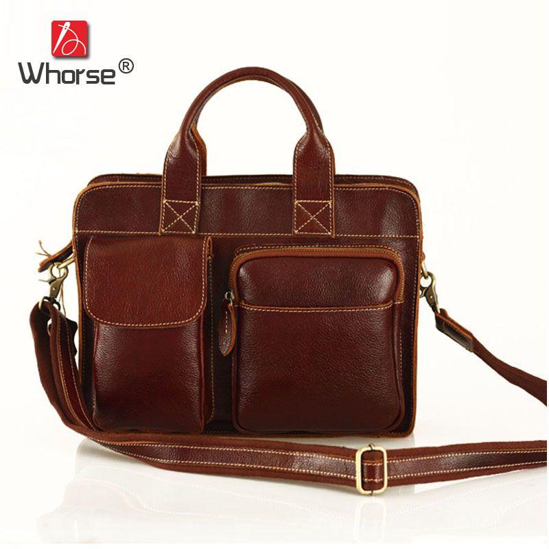 Home Goog.yu Man Leather Business Briefcase Laptop Bag Men Messenger Bags Designer Brand 100% Cowhide Men Genuine Leather Handbags Traveling