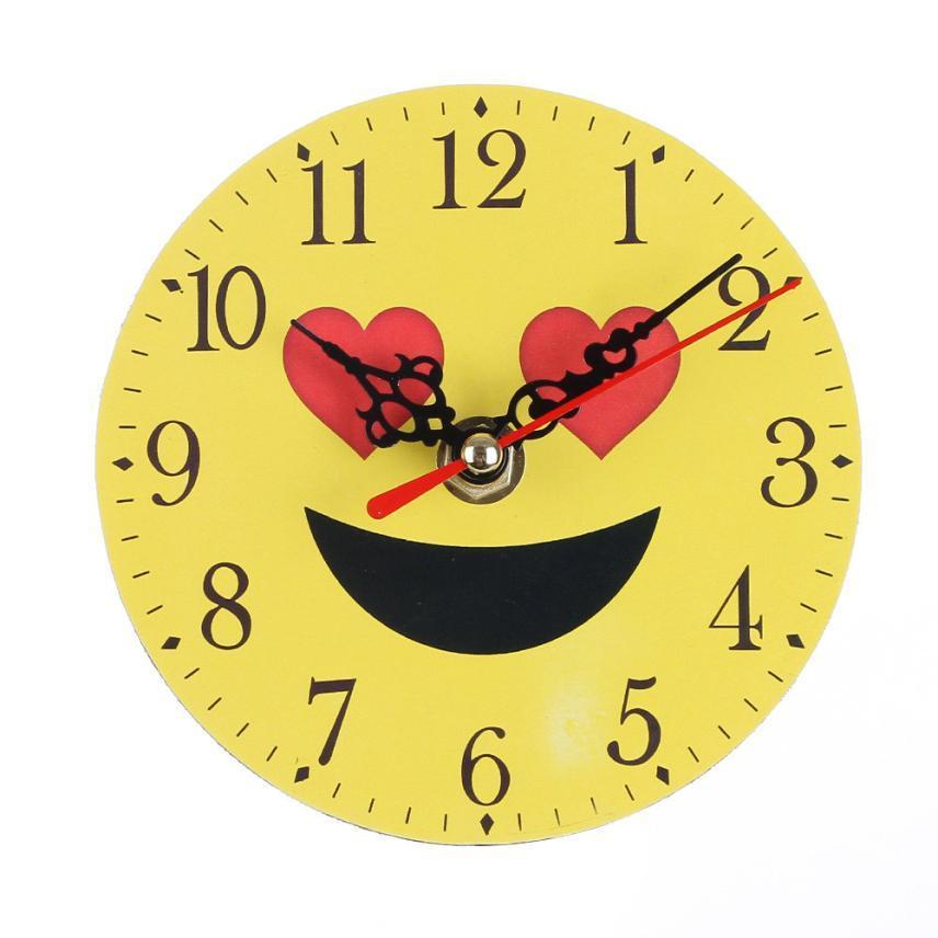 Horloge Silent Bell Sweep Emoji Creative Bureau De Emoticon Numérique yNO8wm0vPn