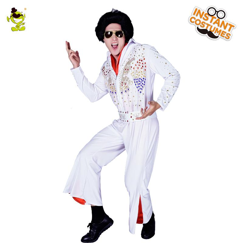 Hot Sale Adult Men S Elvis Presley Costumes Cosplay Party Elivs High  Quality Clothing Masquerade Fancy Dress Presley Costumes Funny Halloween  Costume Group ... 49d87411882d