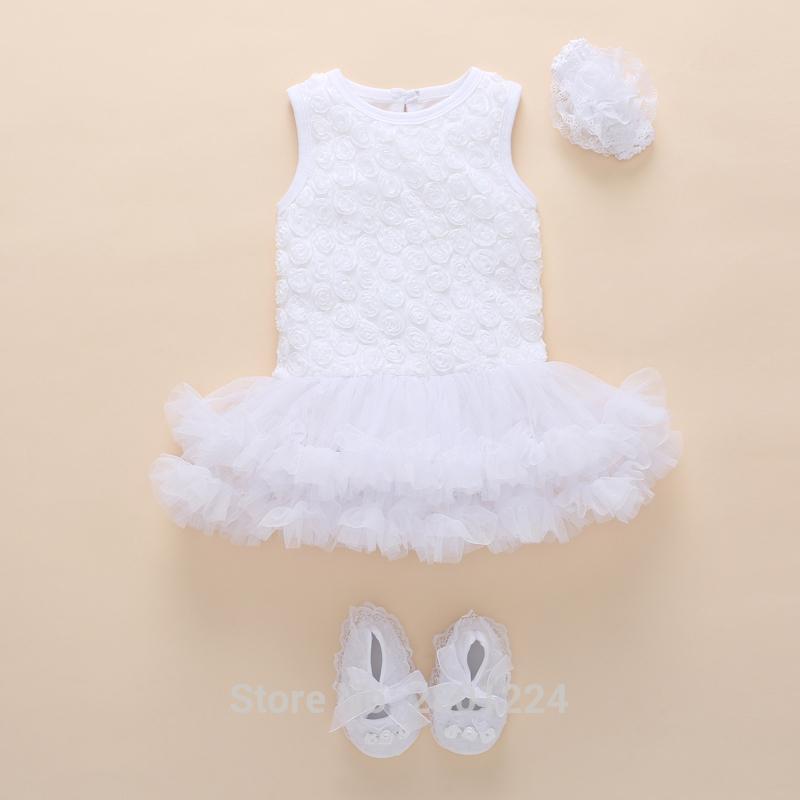5e5989a8d4d26 Compre Bebé Recién Nacido Ropa De Niña 0 3 Meses De Algodón Verano Vestido  De Niña De Tutú Conjunto De Cumpleaños De 1 Año Bebé Niñas Mono Vestido  Infantil ...