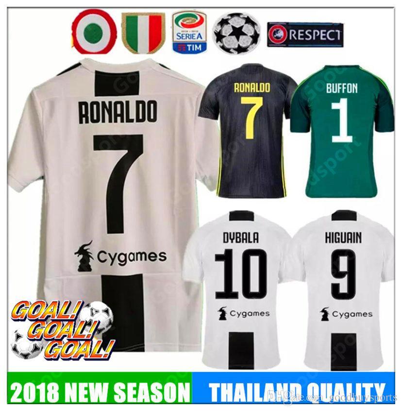e0a3854a7 18 19 Le Zebre RONALDO DYBALA HIGUAIN POGBA Soccer Jersey 2018 2019 ...