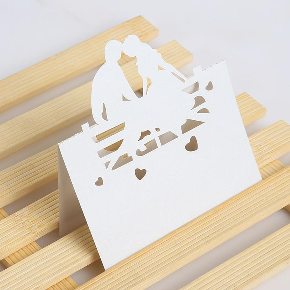 Wedding Invitation Cards Laser Cut Pearled Paper Beloved Bride And Groom Place Card Name For Decoration Email Birthday From