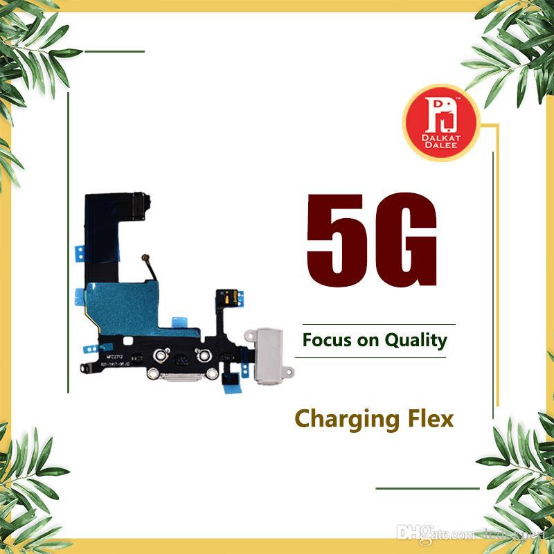 Port de charge Dock Connecteur USB Câble Flex pour iPhone 5 Chargeur avec prise casque Câble d'antenne Mic Câble audio Jack Remplacement de ruban