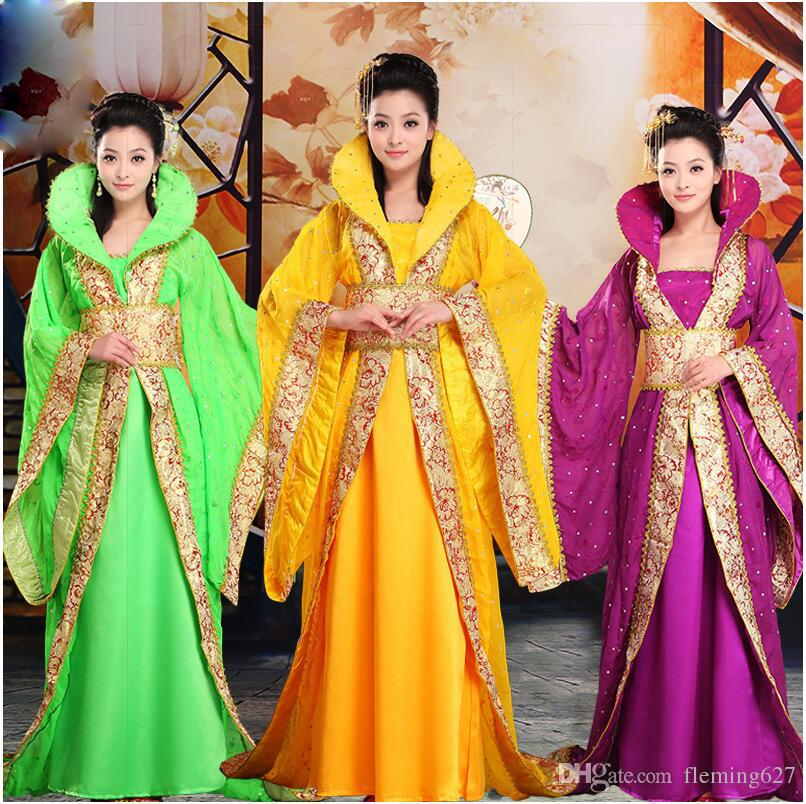 480317f1e0 2019 Oriental Ancient China Costume Woman Fairy Hanfu Dress Clothing Folk  Dance Stage TV Performance Asian Traditional Dress For Lady From  Fleming627