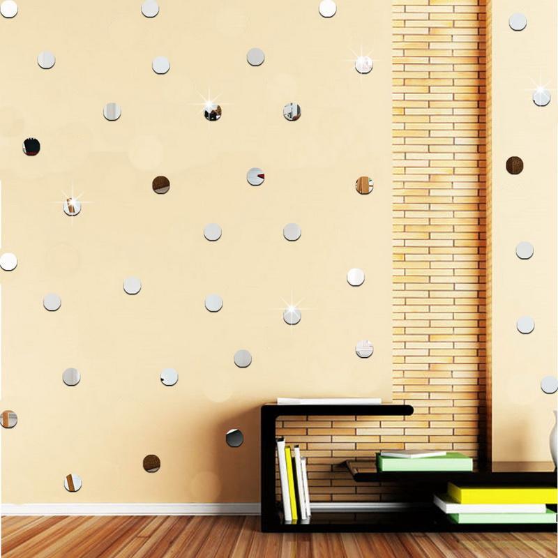urijk 3d dot mirror wall sticker bath sticker wall home decoration