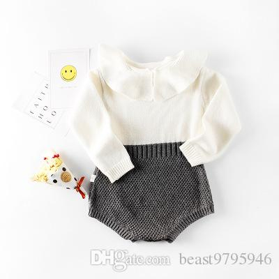 082b0bffc Autumn Winter Baby Rompers Long Sleeve Newborn Boys Girls Warm ...