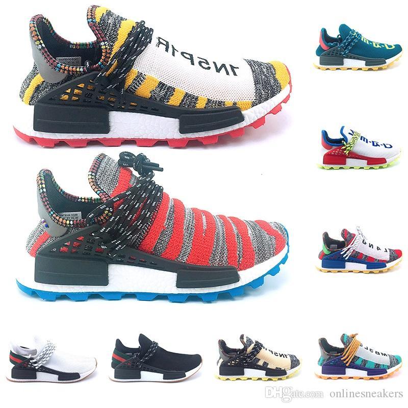 377d2c43b24a2 Großhandel Adidas NMD Human Race Boost Creme Nerd Menschlichen Rennen Trail  Solar Afro Pack Laufschuhe Männer Frauen Pharrell Williams HU Runner  SOLARHU ...
