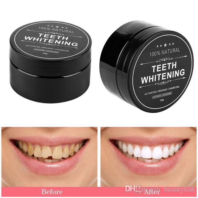 Teeth Whitening 60g Powder Smoke Coffee Tea Stain Remove Bamboo