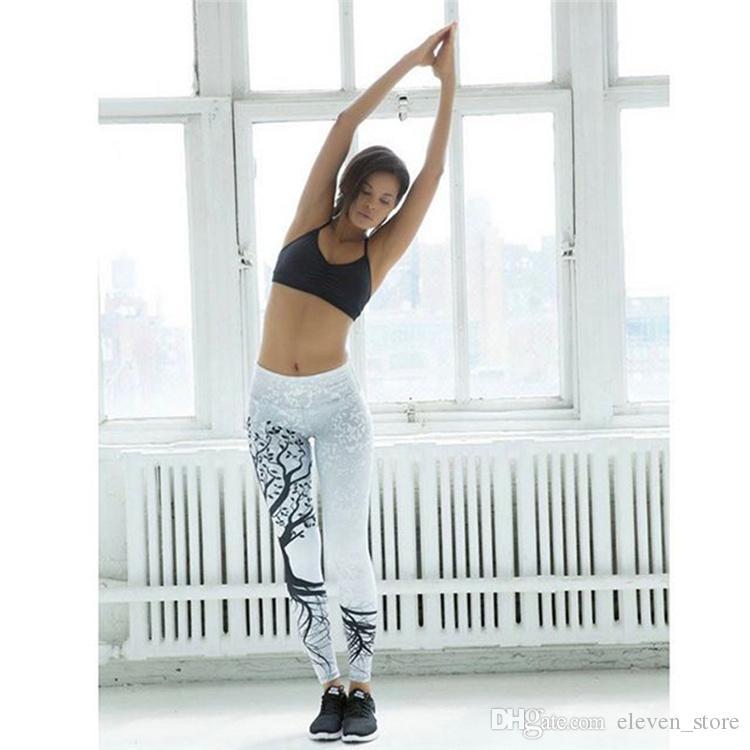 Мода 3D печатных леггинсы женщины Push Up высокой талией леггинсы 3D цифровой дерево печати тонкий полиэстер Harajuku леггинсы брюки YWYS7020