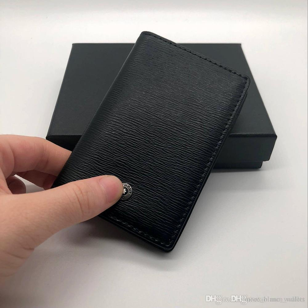 cbb2d6549ed0 Luxury MB Men's Credit Card Holder High Quality Leather MT, Purse Holder  Fashion Card Case Latest Upscale Gift Box Card Holder wallets