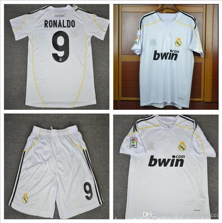 94ae8c5825b 09 10 Real Madrid Ronaldo Retro Soccer Jersey Sergio Ramos V ...