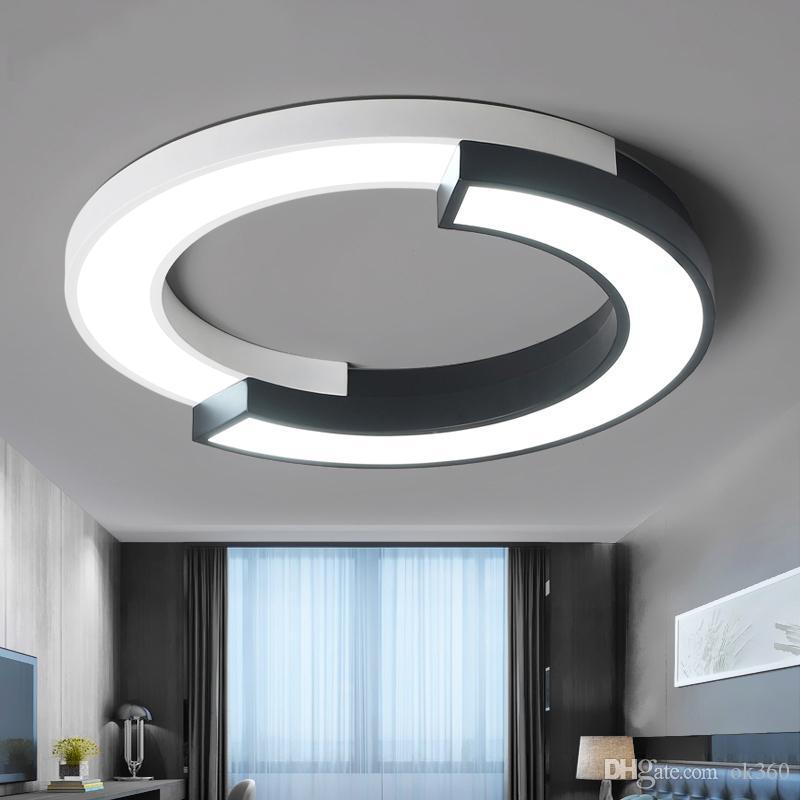 Moderne Led Deckenleuchten für Wohnzimmer Flush Mount Leuchten  Deckenleuchte mit Fernbedienung Küche Runde Lampe