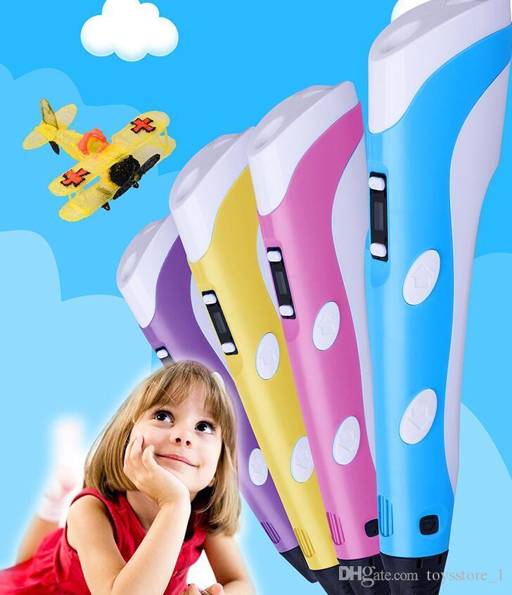 Caneta 3D DIY Impressora 3D Pen Desenho Caneta Impressão Melhor para Crianças Presente com ABS Filament 1.75mm