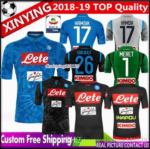 2019 2018 2019 Napoli Soccer Jersey 18 19 Goalkeeper Training ZIELINSKI  HAMSIK INSIGNE MERTENS CALLEJON PLAYER ROG Home Away THIRD Football Shirt  From ... 02495f4ae