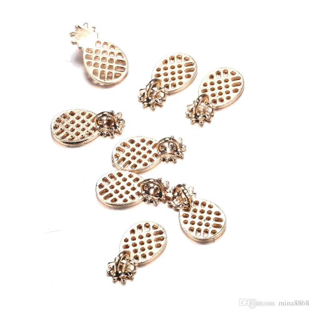 11*20mm Fruit pineapple charms for Jewelry ananas floating necklace pendant diy jewelry Accessories wholesale