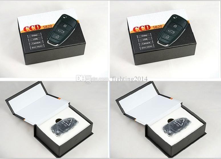 Full HD 1080P Cámara de claves de automóvil con visión nocturna Detección de movimiento S820 Coche Llavero de pinhole Cámara Digital audio grabador de video