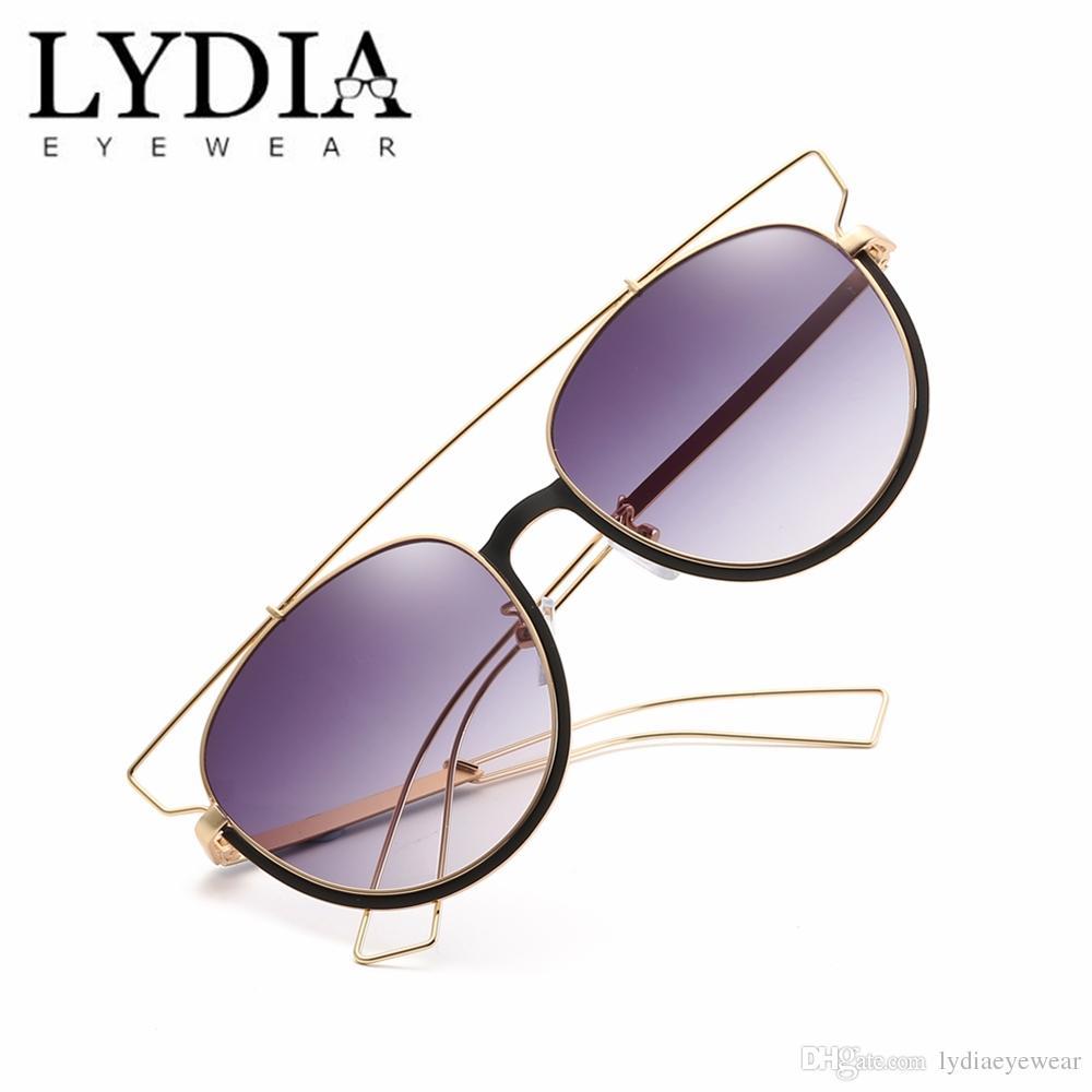 084cc85b4c Compre 2018 Retro Gafas De Sol Redondas Para Mujeres Hombres Diseñador De  La Marca Gafas De Sol Aleación Espejo Sunglass Lentes Mujer Gafas De Sol  L2322 A ...