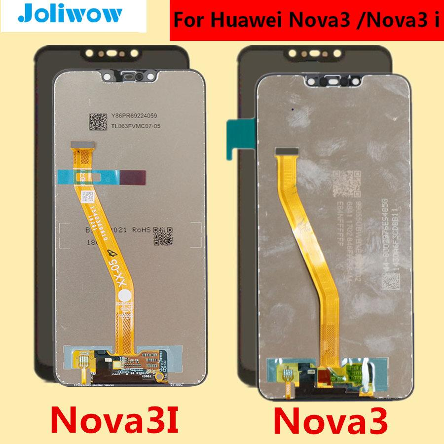 6 3 For Huawei Nova3 Nova3i LCD Display Touch Screen For HUAWEI Nova 3i LCD  Nova 3 3i PAR-AL00 Display Replacement parts