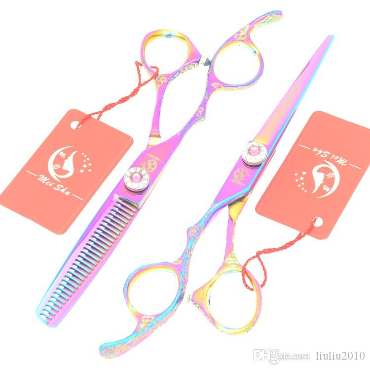 6.0Inch Meisha Professional Left Hand Hairdressing Scissors Kits JP440C Hair Cutting Shears Barbers Thinning Tijeras for Household HA0385