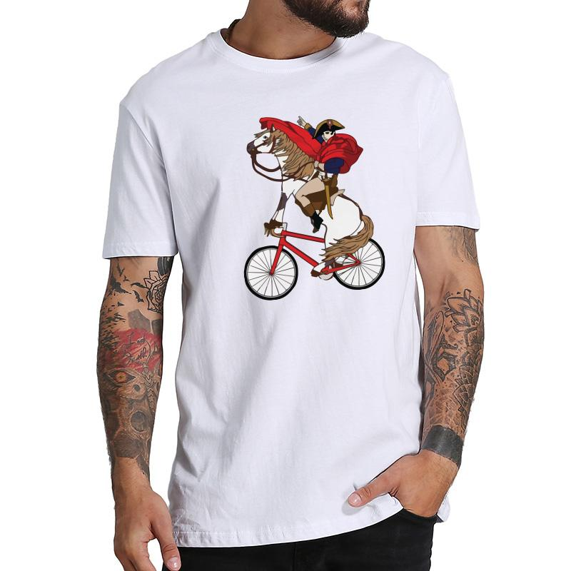 803ccd091 Funny T Shirt Men Napoleon Cycling Cartoon Graphic Print Tee Shirt Male  Cotton Soft Breathable Fitness T Shirt Summer Online Shirts T Shirt Design  Online ...