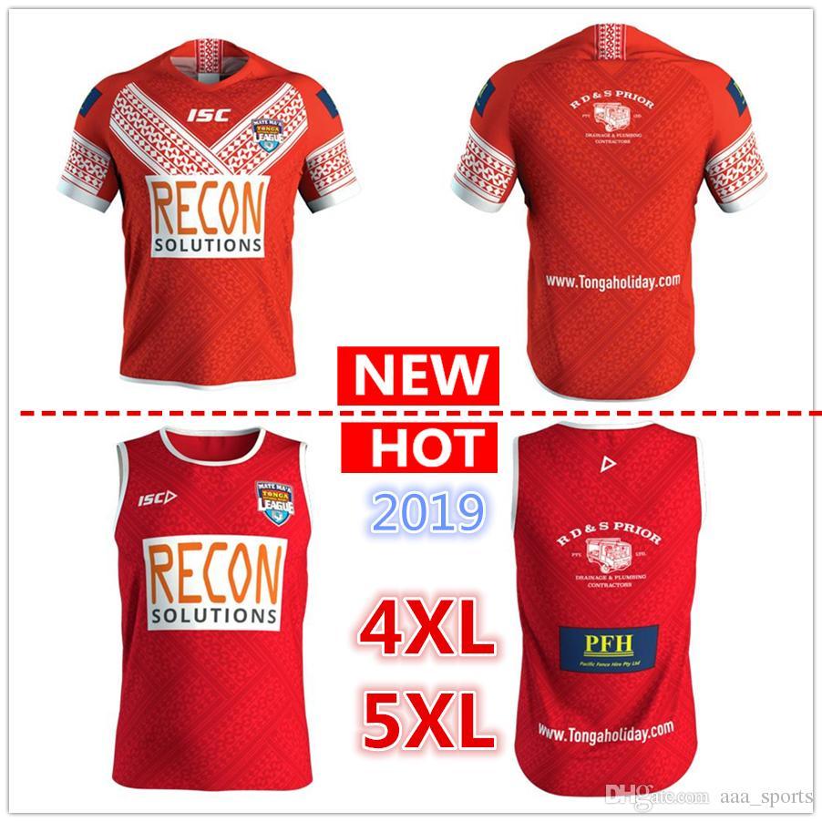 f9bfebe5e Big Size 4xl 5xl ! Tonga 2019 Mens Players Training Singlet MATE ...