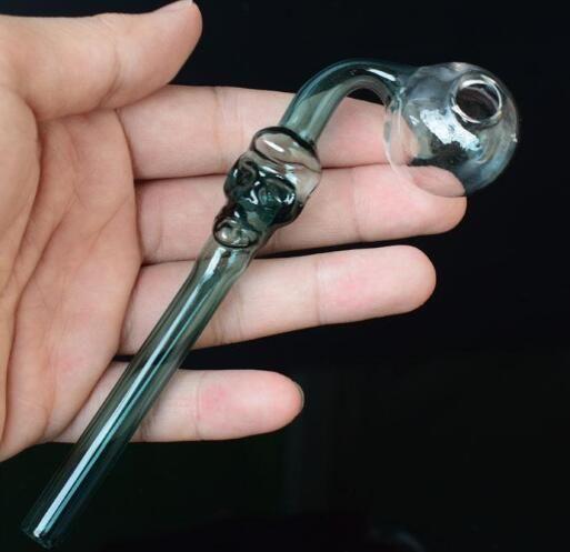 красочные стеклянные трубы череп курительная ручка трубы изогнутые мини 14 мм курительные трубки ручной выдувной ресайклер лучшие горелки масла