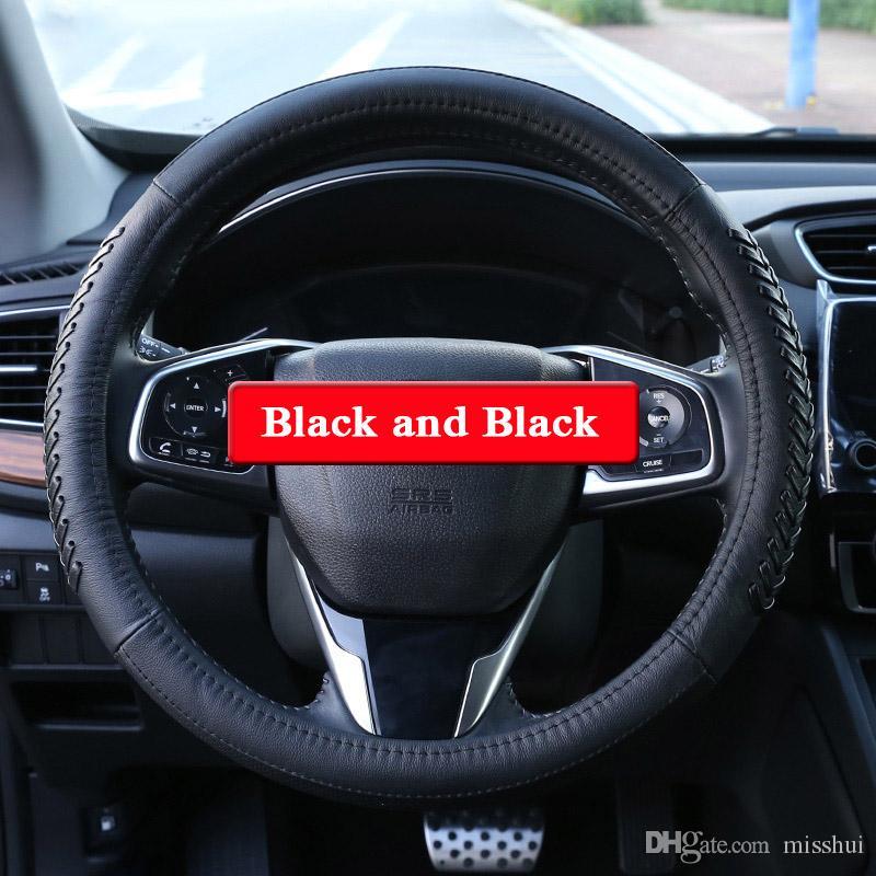 Honda 5th Için QCBXYYXH Araba Styling CR-V 2017 2018 Direksiyon Deri direksiyon-Kapak Kapak İç aksesuar