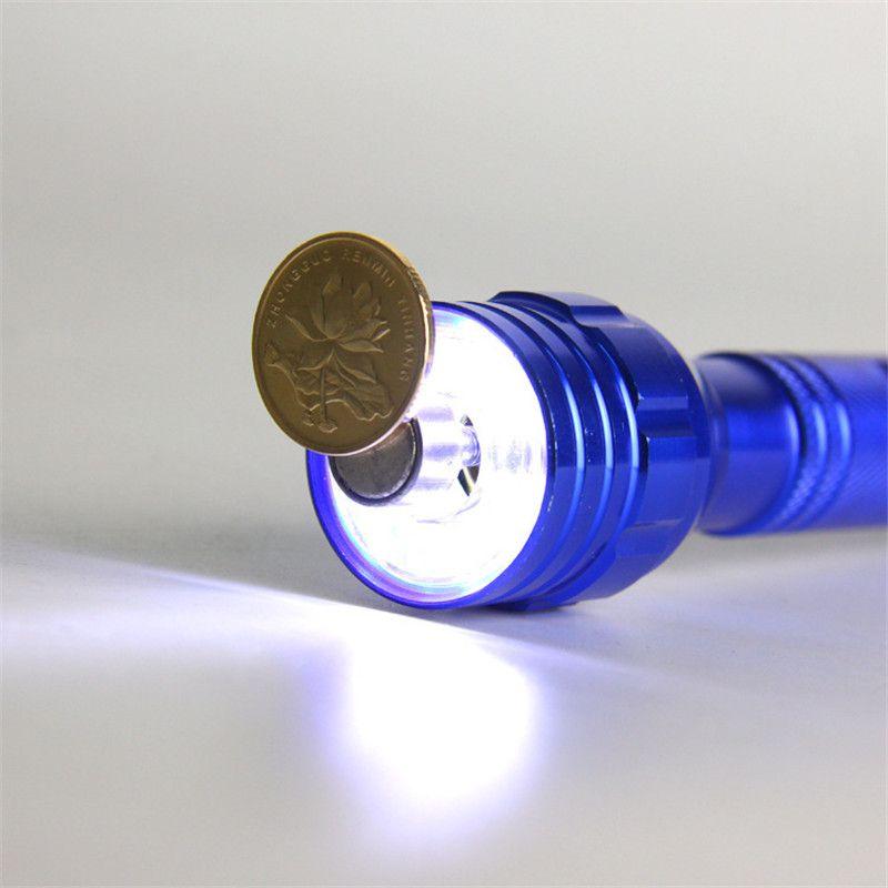 LED Flashlight 6 LED Torch Telescopic 360 Degree LED Light Magnetic Pick Up Tool Lamp Lanterna Camping Tactical Telescoping Q0454