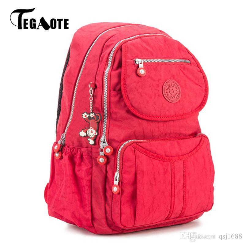 f469280a55 TEGAOTE School Backpack For Teenage Girl Mochila Feminina Women Backpacks  Female Nylon Big Travel Bagpack Laptop 2018 Sac A Dos Black Leather Backpack  ...
