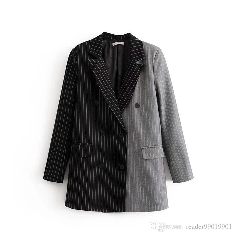 Compre S L Mujer Otoño Invierno Moda Abrigo Solapa Cuello Señoras Traje Chaqueta  Elegante Abrigo Oficina Señoras Desgaste   43 A  22.61 Del Reader99019901  ... 0f48785261e5