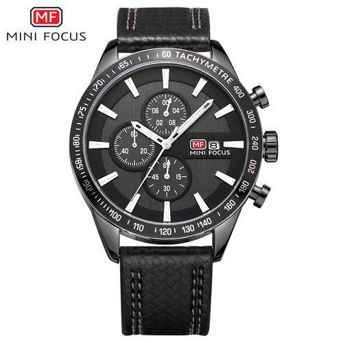 cceecba40b1 Compre Mini Foco Mf0029g Homens Moda Multifuncional Esportes Relógios De  Luxo Da Marca De Quartzo Analógico Relógio De Pulso Militar De Couro De  Shihewatch
