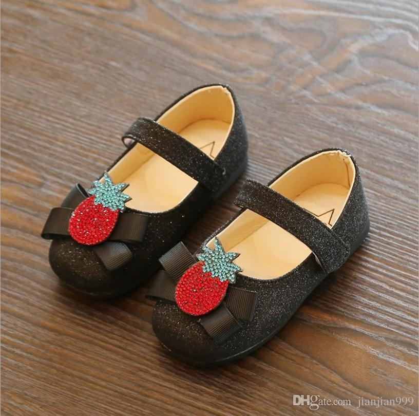 Autumn New Korean Fashion Pineapple Girls Small Shoes Soft Bottom Rhinestones  Little Girl Princess Shoes Tide Show Casual Dress For Children Boot  Slippers ... 3cb5b7a57580