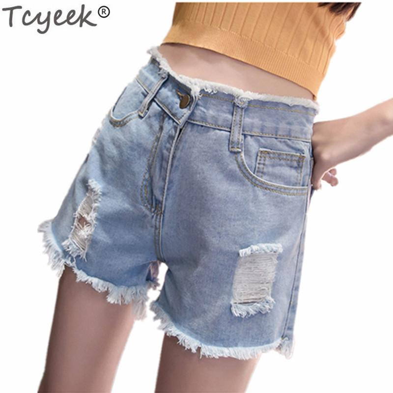 71c72e995066 Tcyeek Pantalones Cortos para Mujer Verano Tallas grandes 5XL Pantalones  Cortos de Mezclilla Femeninos Ocasionales Oficina Señora Trabajo Pantalones  ...