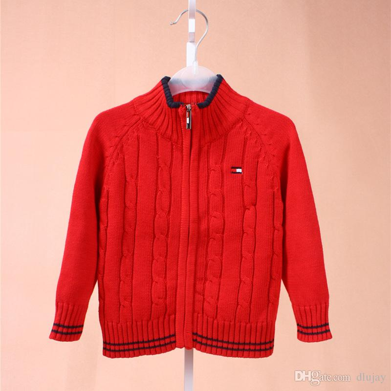 8601ec0c0f0cb 2019 New Brand High Quality School Boys And Girls outerwear clothes kids  polo Sweater baby clothes Fashion Children polo Sweaters 88888