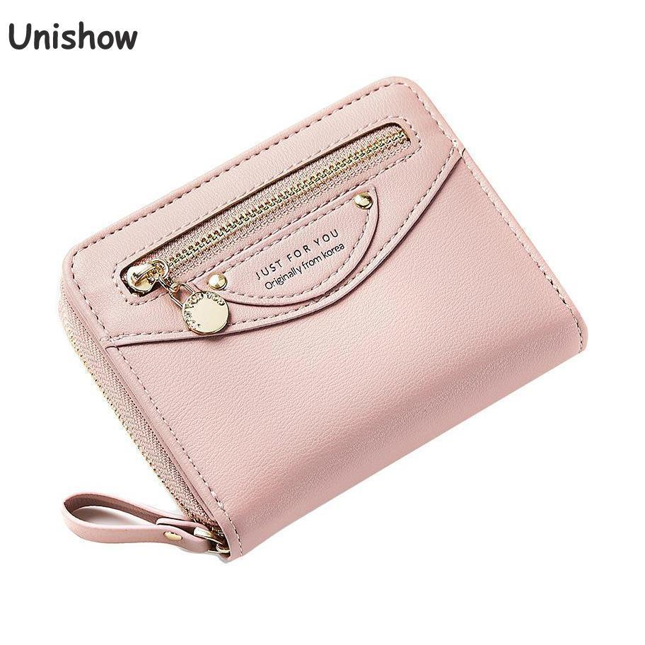 a7cabf712731 Unishow Women Small Wallet Multifunction Female Purse Trifold Pu Leather  Lady Wallet Zipper Women Purse Mini Girl Coin Womens Credit Card Wallet  Branded ...