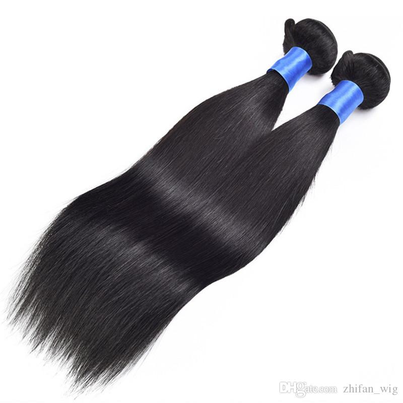 Z&F 8-28inch Mink Brazilian Hair Hairs Extensions Ombre Human Hair Bulks Extented Real 100% Black 100G