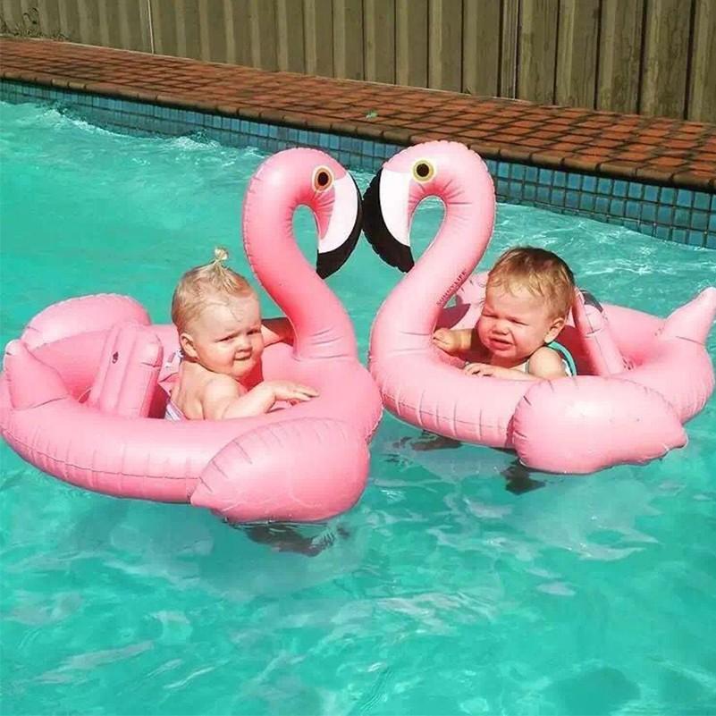 Bebê Flutuador Flutuador Do Assento Do Bebê Inflável Flamingo Cisne Piscina Flutuador Bebê Verão Piscina de Água Do Divertimento Brinquedo Crianças anel de Natação
