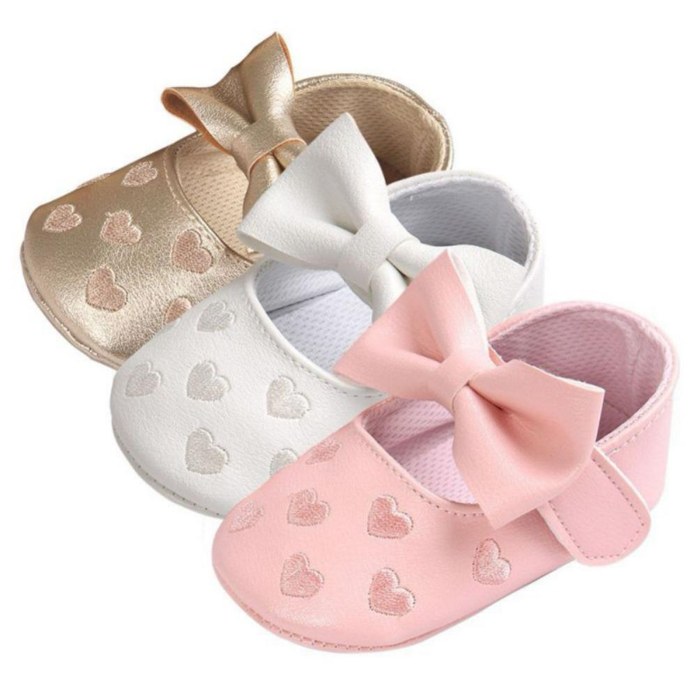 71bde7d2f575a 2019 Big Bow Embroidery Love PU Leather Baby Girl Shoes Non Slip Soft Soled  Footwear For Newborn Crib Shoes Toddler From Callshe, $33.4   DHgate.Com