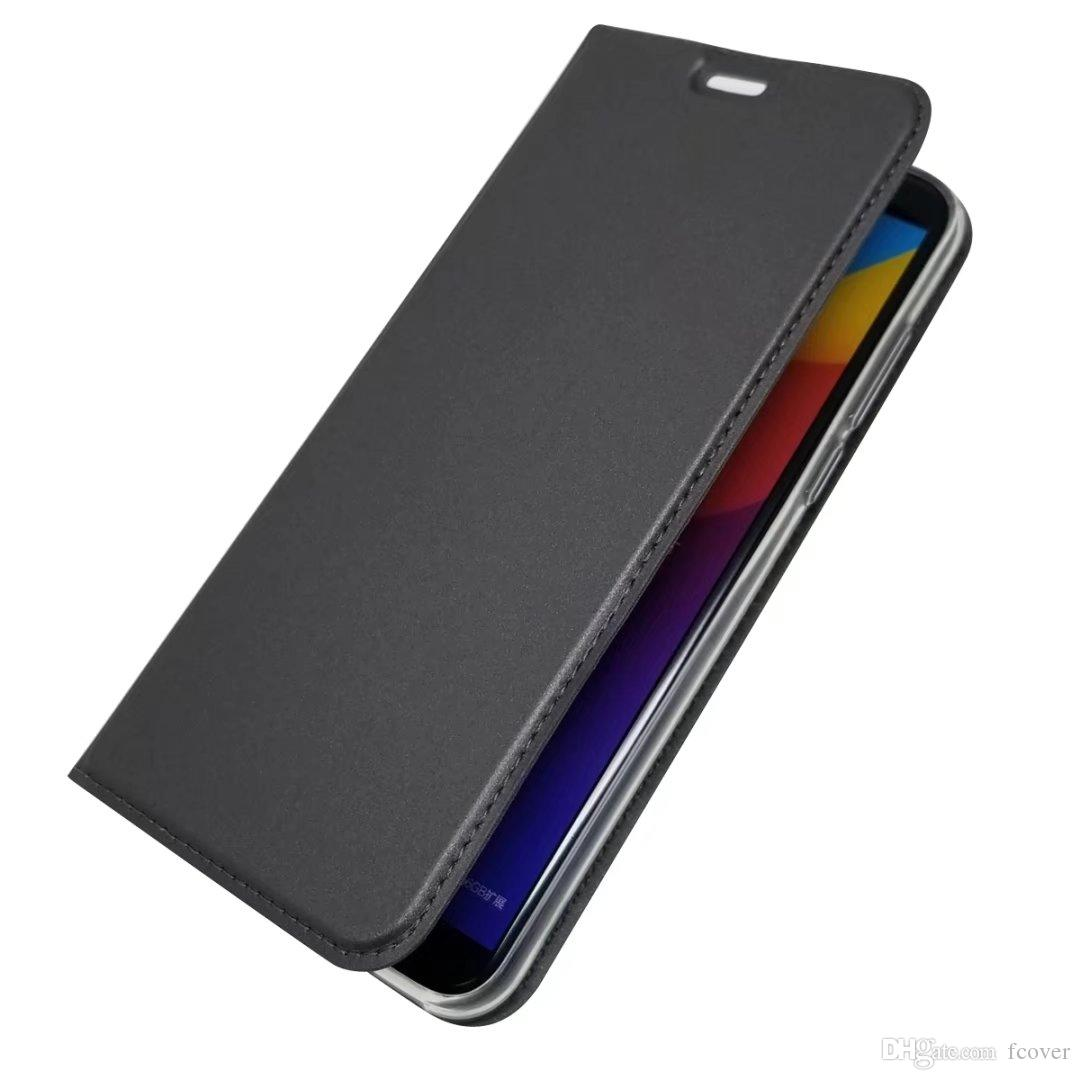 For Huawei Honor 7C 7A Pro /Y7 2019/Y6 2019/Y9 2019 Wallet Leather Flip  Case Magnetic Book Stand Card Protective Shell Phone Cover